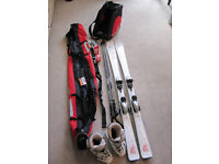 Complete Head Ski Set - Ski, Poles, Bindings, Boots, Bags - like new condition