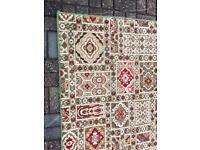 Large Axminster Style Rug & 2 Smaller Matching Rugs. Green, Red, Cream. CAN DELIVER.
