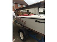 16ft speed boat on trailer