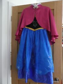 Disney Store Frozen Princess Anna dress NWOT Age 9-10 and Anna Deluxe Shoes Size 11-12
