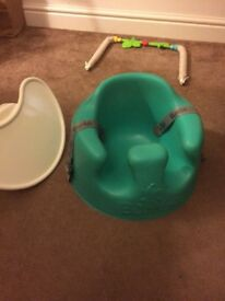 Bumbo green with tray