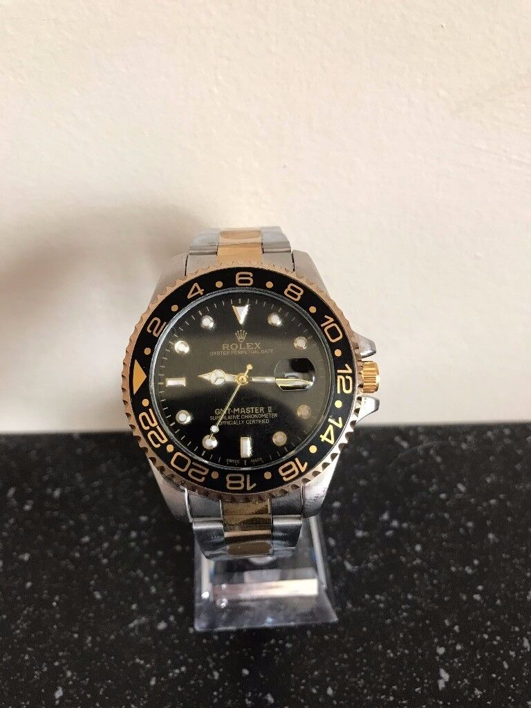 Rolex oyster perpetual GMT master II, Gold strap FREE TRACKED SHIPPING