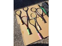 7 SQUASH RACQUETS - PRE OWNED