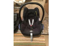 Maxi-Cosi CabrioFix Group 0+ Baby Car Seat with fix base.
