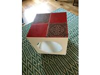 Retro vintage tiled small table/coffee table