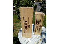 POMMERY CHAMPAGNE WINE BOXES