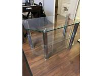 **FREE** 3 tiered Glass TV Entertainment Display Table