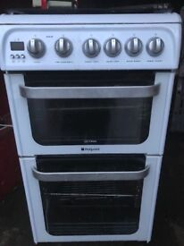 Hotpoint Gas cooker 50cm double gas ovens free delivery