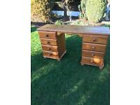 Solid pine 8 drawer dressing table/desk (can deliver )
