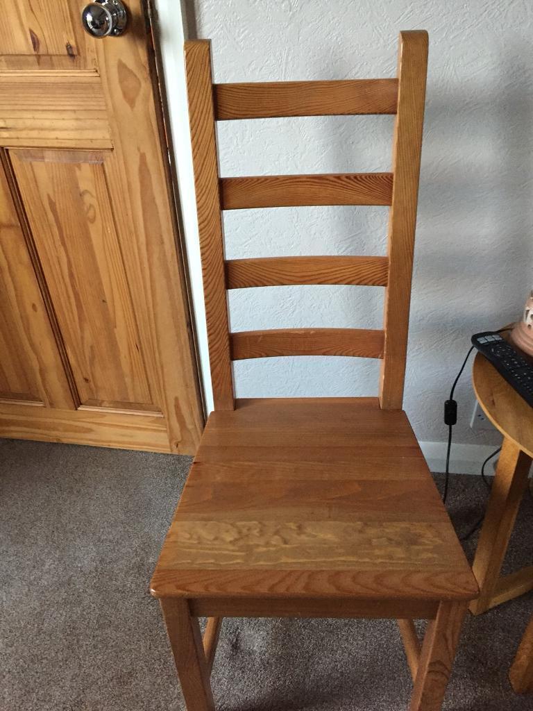 Ikea oak effect dining chairs