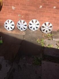 15 inch wheel trims used after market still in reusable condition £8