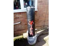 Punchbag 5ft black leather