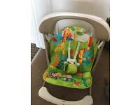 Fisher Price take along swing and seat.