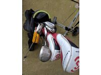 Starters golf set - including bag, clubs & trolley