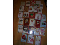 Job Lot 216 x Christmas Cards 132 x Priced. Large Mark Up