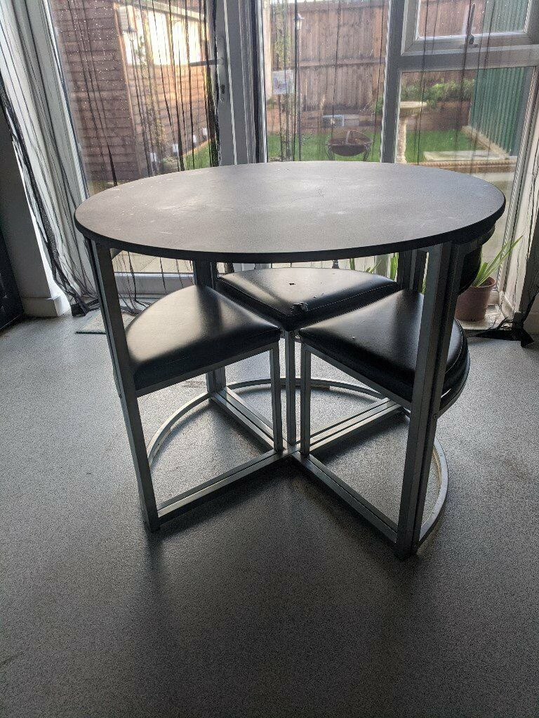 round space saver dining table and chairs  in rainham
