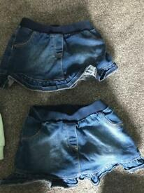 Girls 3-4yrs denim skirt