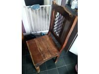 Sheesham indian rosewood dining table and 6 chairs