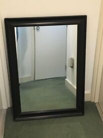 A large wall mirror