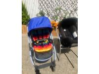 Oyster travel system with Britax car seat