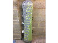 Burton snowboard, bindings and bags