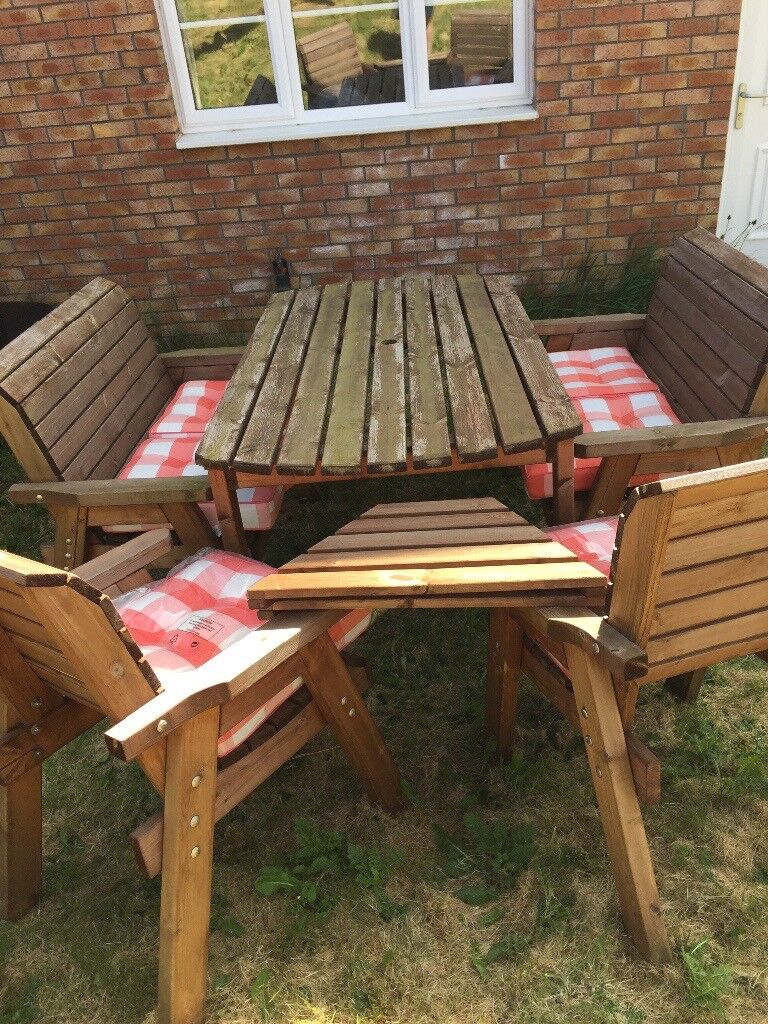 Quality 6 Seat Charles Taylor Garden Furniture Set With