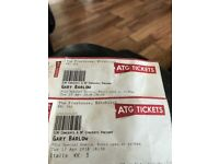 Gary Barlow tickets for tonight 17th April Edinburgh playhouse
