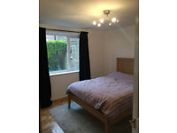 Double room in quiet flat with lounge, kitchen, on street parking and garden