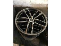 Audi alloys 19x8.5 x3