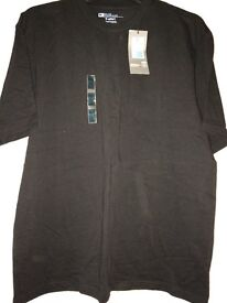 Mens Black T Shirt, size medium