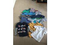 12 boys t shirts age 3 - 4