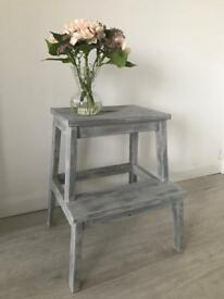 Shabby chic upcycled small step ladder