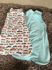 2 baby sleep bags 0-6 months