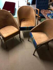 Three antique Lloyd Loom chairs