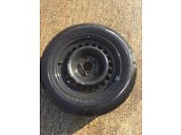 VW wheel and tyre