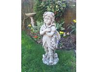 Large stone garden flower fairy statue, fantastic detail. New