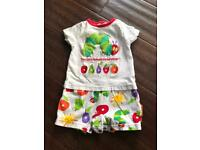 3-6 month Hungry Caterpillar shorts romper