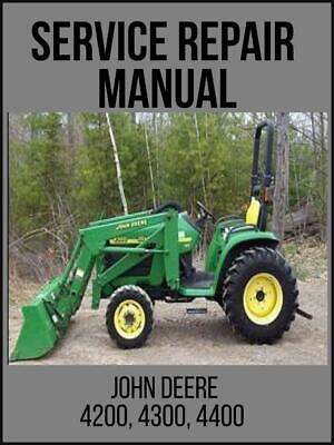 John Deere 4200 4300 4400 Compact Utility Tractor Technical Manual Tm1677 Usb