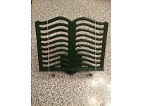 Victor England vintage cast iron book stand