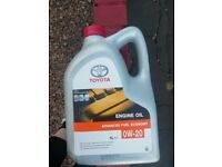Genuine Toyota engine oil
