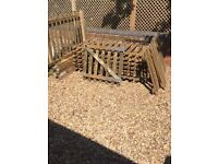 Picket Fence, Panels & Gate Excellent Condition