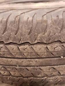 4 pneus d'été, Dunlop, Grandtrek AT20, 245/75/16, 60% d'usure, mesure 6-6-5-5/32.