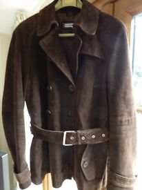 Brown Fiorelli Leather/Suede Jacket size 14
