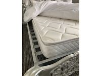 Memory foam mattress and memory foam topper 4ft 2 x 6ft x 9in thick as new collect so45 £35