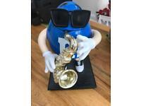 M&M s dispenser blue sax character