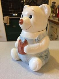 Storage cookie jar teddy bear