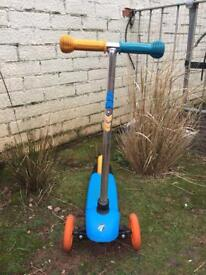 Child's blue three wheel scooter - £5 Or near offer