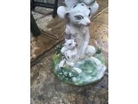 Very cute FREE garden meerkat plant pot stand