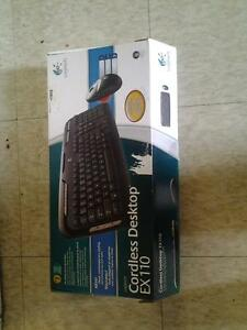 Cordless Desktop keyboard and mouse by logitech EX110 Kitchener / Waterloo Kitchener Area image 1