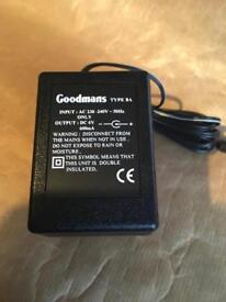 Power adapter 6volt 600ma